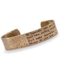 House of Alaia - Four Agreements Reminder Cuff In Bronze Small - Lyst