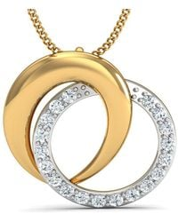Diamoire Jewels - Hand-carved 10kt Yellow Gold Pendant Inspired By Nature With High Quality Diamonds - Lyst