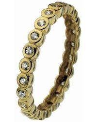 Virtue London - Polka Dot Gold Ring - Lyst
