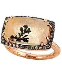 Susan Wheeler Design - Pink Gold Dendritic Ring - Lyst