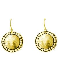 Murkani Jewellery - Marrakech Hanging Earrings In 18kt Yellow Gold Plate - Lyst