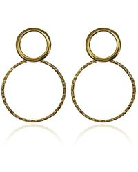 Carao Jewelry - Duet Earrings Yellow Gold Plated - Lyst
