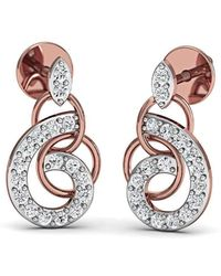 Diamoire Jewels Frippery Diamond Earrings in 18kt Rose Gold nDQVqbG