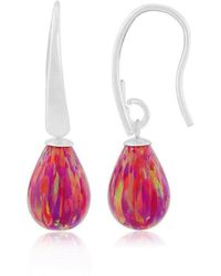 Lavan - Red Opal Teardrop Earrings - Lyst