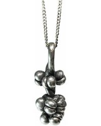 Private Opening - Pomegranate Sterling Silver Oxidized Pendant - Lyst