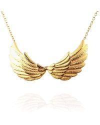 Jana Reinhardt Jewellery - Golden Double Wing Necklace - Lyst