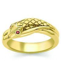 London Road Jewellery Sterling Silver Kew Serpent Ring - UK L - US 5 1/2 - EU 51 3/4 yszCPY1h
