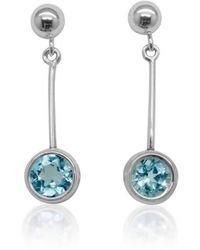 Designs by JAK - Susanne Sky Blue Topaz Dangle Earrings - Lyst