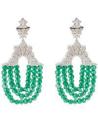 Latelita London Marrakech Earring Green Onyx White Zircons 5Qzklhj