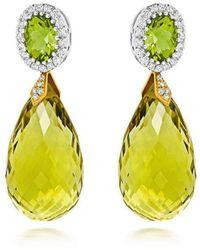 Tivon Fine Jewellery - Tivon Green Monte Carlo Earrings - Lyst