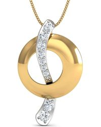 Diamoire Jewels Au-courant Diamond Pave Pendant in 18Kt Yellow Gold j9BsjxUkRL