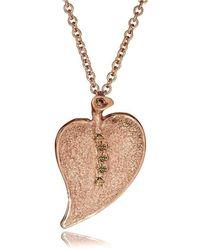 Alex Soldier - 18kt Rose Gold & Champagne Diamond Pendant - Lyst