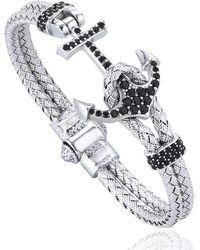 Atolyestone London - Petite Anchor Bracelet - Lyst