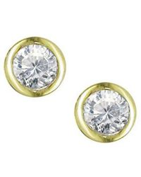London Road Jewellery - Stylish Yellow Gold Diamond Raindrop Stud Earrings - Lyst
