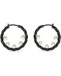 MARCELLO RICCIO - Black Gold Twisted Pearl Earrings - Lyst