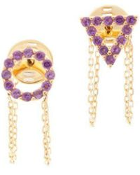 Eshvi February Amethyst Earrings Ct01F5CHP