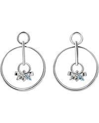 Carolin Stone Jewelry Sterling Silver Daring Green Amethyst Infinite Earrings - Metallic