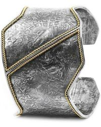 Katarina Cudic - Sterling Silver Filum Cuff With 14kt Yellow Gold - Lyst