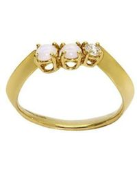 Daou Jewellery - Electron Ring - In Opals And Diamond - Lyst