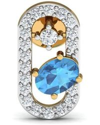 Diamoire Jewels - Oval Cut Natural Aquamarine And Diamond Earrings In 14kt Yellow Gold - Lyst