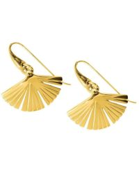 Stefano Salvetti - Yellow Gold Plated Ira Bronze Earrings - Lyst
