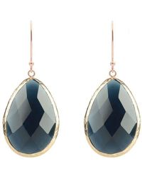 LÁTELITA London - Rose Gold Single Drop Earring Sapphire Hydro - Lyst