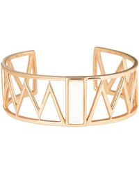Alexandra Alberta - Rose Gold Plated Guggenheim Cuff With Pearl - Lyst