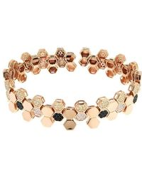 Cosanuova - Rose Gold Plated Sterling Silver Honeycomb Bee Bracelet - Lyst