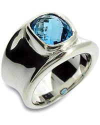 Will Bishop - Molten Silver & Blue Topaz Ring - Lyst