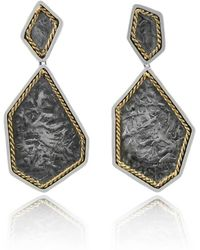 Katarina Cudic - Sterling Silver Filum Drop Earrings With 14kt Yellow Gold - Lyst