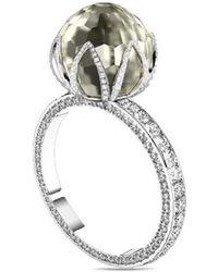 MARCELLO RICCIO - White Gold, Faceted Pearl & Diamond Ring - Lyst