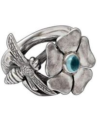 Luke Goldsmith - Silver Bohemian Blue Topaz Bee Ring - Lyst