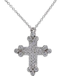 Rhonda Faber Green Designs - Itsy Bitsy Cross Necklace - Lyst