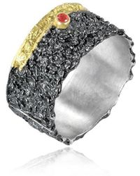 Apostolos Jewellery - The Earth Song 2 Oxidised Silver Ring - Lyst