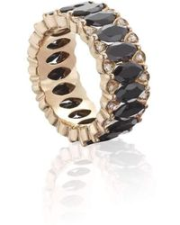 Niquesa Fine Jewellery - Amore Black Spinel Eternity Band - Lyst
