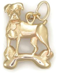 Donna Pizarro Designs 14kt Yellow Gold Boxer Charm