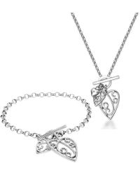 Lily and Lotty - Aimee Bracelet & Necklace Set - Lyst
