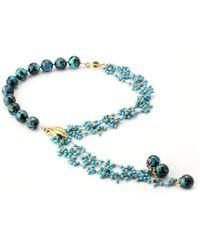 Elisa Ilana Jewelry - Yellow Gold, Chrysocolla & Turquoise Necklace   - Lyst