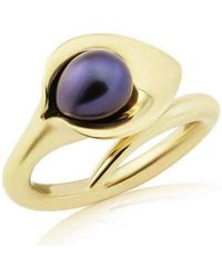 Amanda Cox Jewellery - 9kt Gold Lily Pearl Ring - Lyst