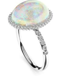 MARCELLO RICCIO - 18kt White Gold, Diamond & Crystal Opal Ring - Lyst