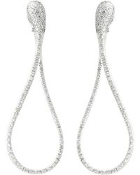 Dada Arrigoni Jewelry - Elika Big Pave Earrings White Gold - Lyst