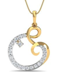 Diamoire Jewels Ruby Stripe Diamond Pendant in 18kt Yellow Gold