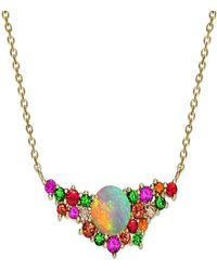 London Road Jewellery - Yellow Gold Multi-gem Harlequin Necklace - Lyst