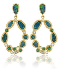 "Lika Behar Collection - Gold ""ocean Crashing Wave"" Post Earrings - Lyst"