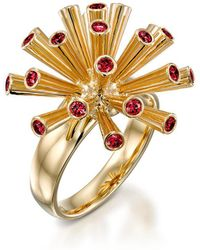 Ayalla Joseph - Fireworks Ring With Red Spinel - Lyst