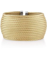 Alor - 18kt Gold & Stainless Steel Classique Diamond Cuff Bangle - Lyst