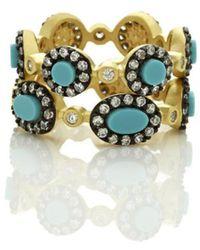 Freida Rothman - Turquoise Mixed Shape Set Of 2 Rings - Lyst