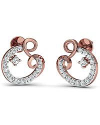 Diamoire Jewels - 18kt Rose Gold Pave Earrings Handset With 34 Premium Diamonds - Lyst