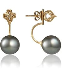 Anahita Jewelry - 18kt Yellow Gold Onion Dome Cage Earrings - Lyst
