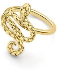 London Road Jewellery - Kew Serpent Yellow Gold Ring - Lyst